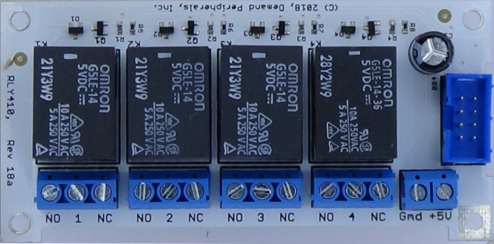 Demand Peripherals Inc Relay Current Driver Rly410 Quad 10 Amp Card